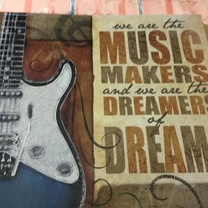 We are the music makers wall hanging